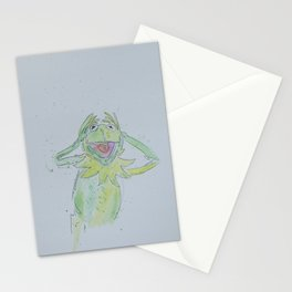 bad portrait KERMIT Stationery Cards