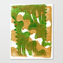 Green on Gold Canvas Print