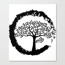 Tree Of Life Retro Gifts For Yoga Lovers Canvas Print
