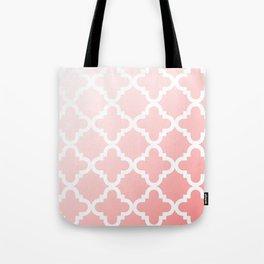 Faded Pink Quatrefoil Tote Bag
