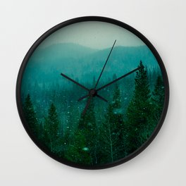 The Dream Mountains of Colorado Wall Clock