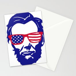 4th of July Lincoln Stationery Cards