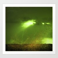 Corporate Interventions-Green Art Print