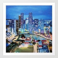 singapore Art Prints featuring Singapore by EmileeGraesser