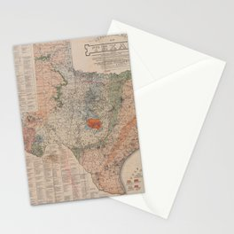 Vintage Geological Map of Texas (1920) Stationery Cards