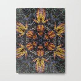 Hexagon Leaf Metal Print