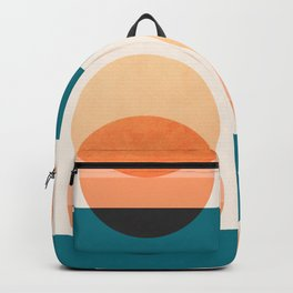 Abstraction_NEW_SUNSET_OCEAN_WAVE_POP_ART_Minimalism_0022D Backpack