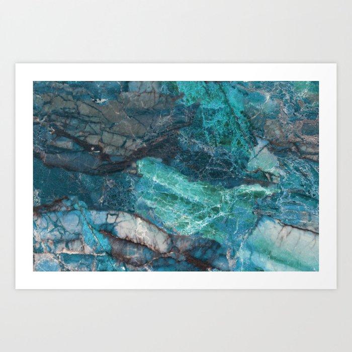 Cerulean Blue Marble Kunstdrucke