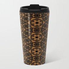 Black and Bronze Kaleidoscopes 2671 Metal Travel Mug