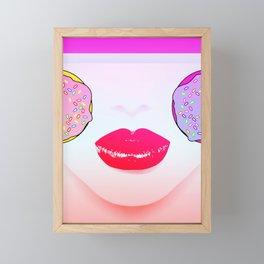 Donuts Girl Framed Mini Art Print