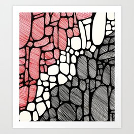 Piedras Rayadas 1 Art Print
