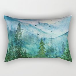 Spring Mountainscape Rectangular Pillow