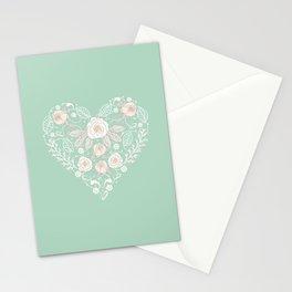 Nebula Pink Heart Stationery Cards