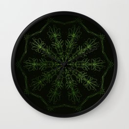 green sun Wall Clock