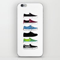vans iPhone & iPod Skins featuring Vans by Deborah Gruber