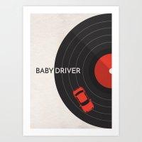 Baby Driver Minimalist Poster Art Print