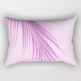 Pink Palm Leaf On A Pink Background #decor #society6 #buyart Rectangular Pillow