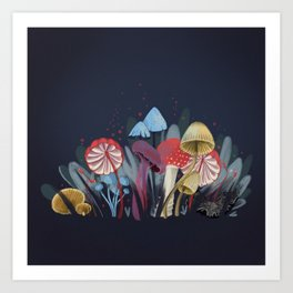 Wild Mushrooms Art Print
