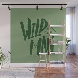 Wild Man x Green Wall Mural