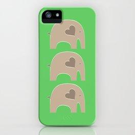Green Safari Elephant iPhone Case