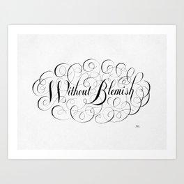 Without Blemish Art Print
