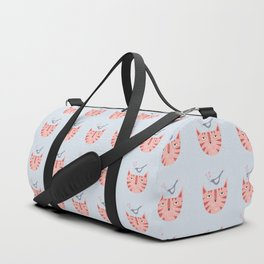 Cat, bird and flower Duffle Bag