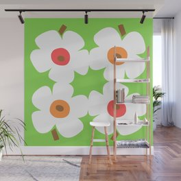 White Poppies Wall Mural