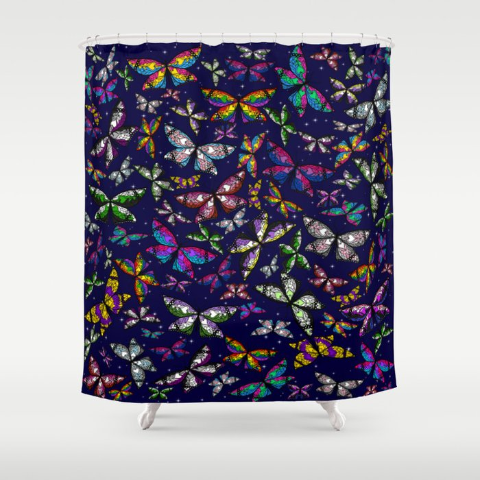 Fly With Pride: Butterfly Bonanza Shower Curtain