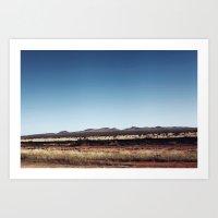 TEXAS DESERT Art Print