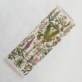 Adolphe Millot - Plantes Medicinales B - French vintage poster Yoga Mat