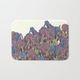 A glory of Irises Bath Mat