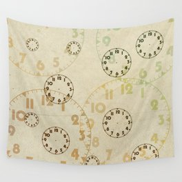 Time On Time Vintage  Wall Tapestry