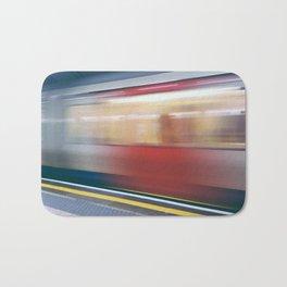 Speeding in London Underground Station Bath Mat