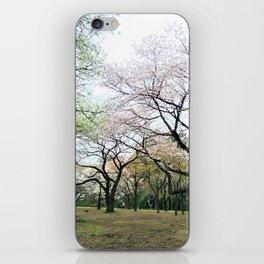 twisty cherry blossom trees iPhone Skin