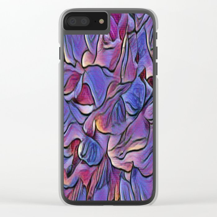 Flowing Soft Petal Abstract - Purple Clear iPhone Case