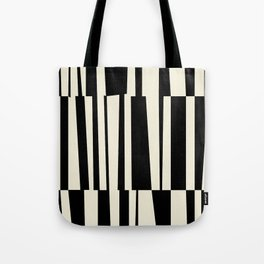 BW Oddities III - Black and White Mid Century Modern Geometric Abstract Tote Bag
