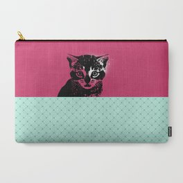Cat in pink Carry-All Pouch