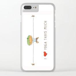 I love yoga boy Clear iPhone Case