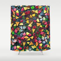 mosaic Shower Curtains featuring Mosaic by Klara Acel