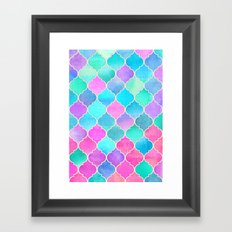Bright Moroccan Morning - pretty pastel color pattern Framed Art Print