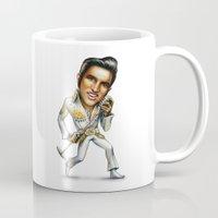 elvis presley Mugs featuring Elvis Presley by sergo