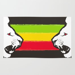 Rasta Lions (The Kingdom) Rug