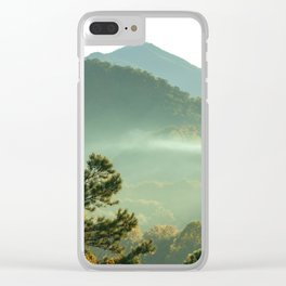 Smoky Mountain Sunrise Clear iPhone Case