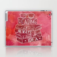 Reading is Always a Good Idea - Red Laptop & iPad Skin