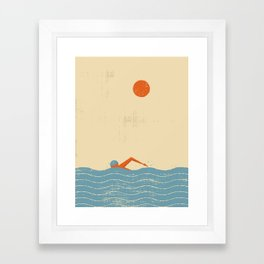 Swimmer Framed Art Print