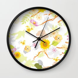 Imaginary Jungle 4 Wall Clock