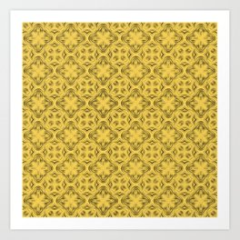 Primrose Yellow Shadows Art Print