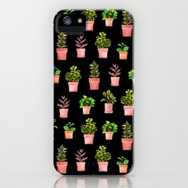 Indoor Plant Collection Black iPhone Case