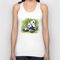 pandas Tank Tops featuring Pandas by Lisidza's art