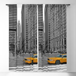 NYC - Yellow Cabs - Trinity Place Blackout Curtain